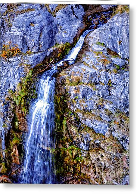 Greeting Card featuring the photograph Waterfall-mt Timpanogos by David Millenheft