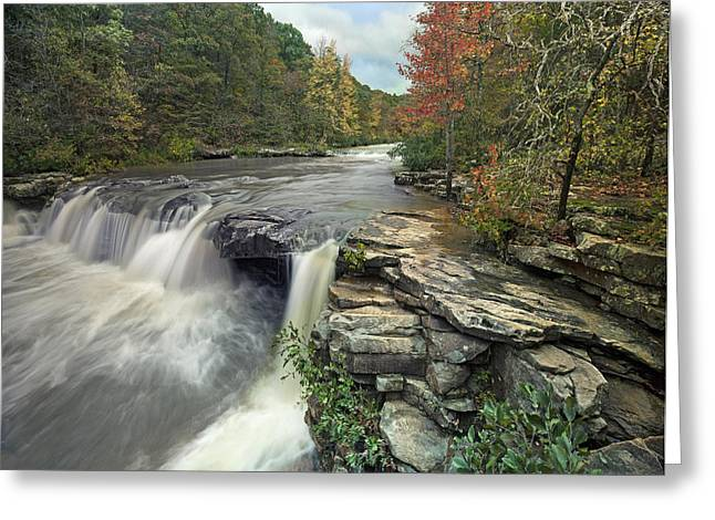 Waterfall Mulberry River Arkansas Greeting Card by Tim Fitzharris