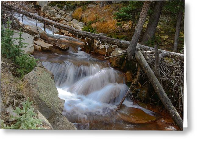 Waterfall Near Breckenridge Greeting Card