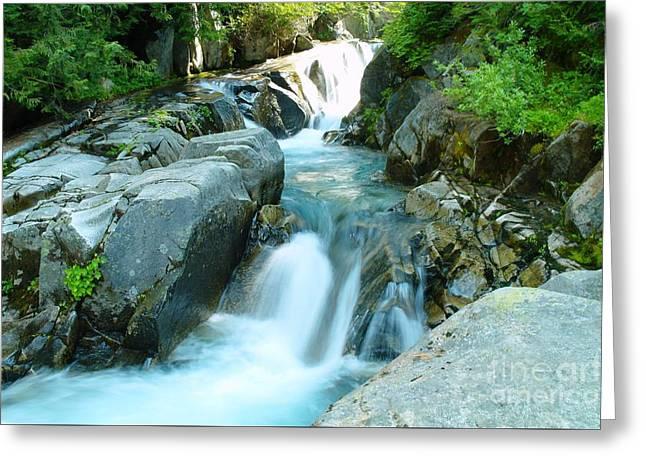 Waterfall Near Paradise Greeting Card by Jeff Swan