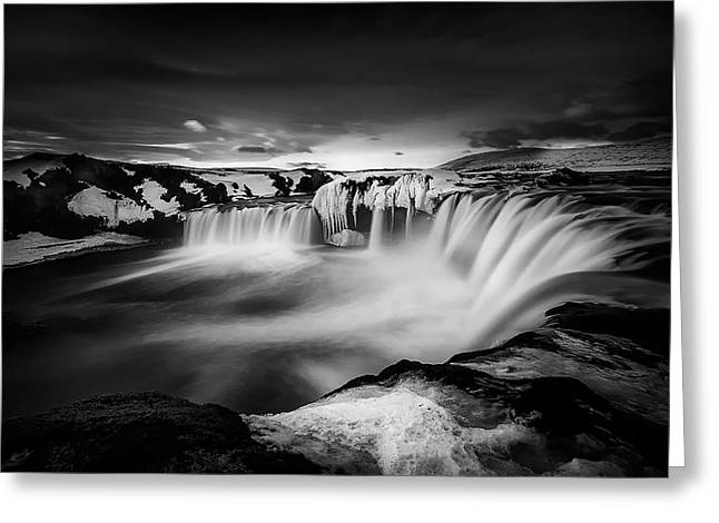 Waterfall Of The Gods Greeting Card