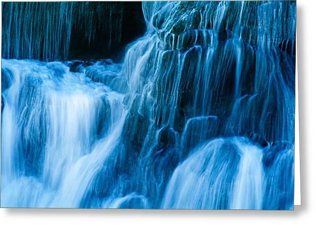 Waterfall On A Cliff, Santa Cruz Greeting Card