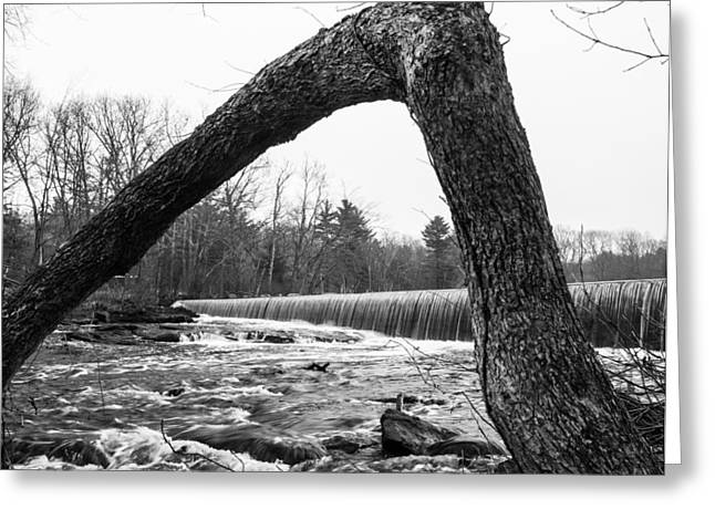 Waterfall On The Assabet Greeting Card by Mark Raymond