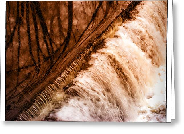 Waterfall On The Assabet River Greeting Card by Patrick Garner