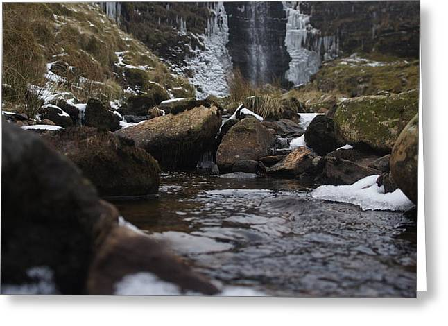 Waterfall Greeting Card by Riley Handforth