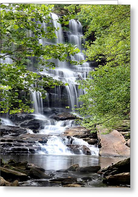 Waterfall Greeting Card by Southern Arts