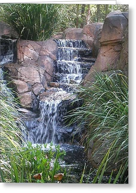 Waterfall Steps Greeting Card