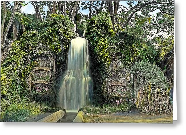 Waterfall Greeting Card by Terry Reynoldson