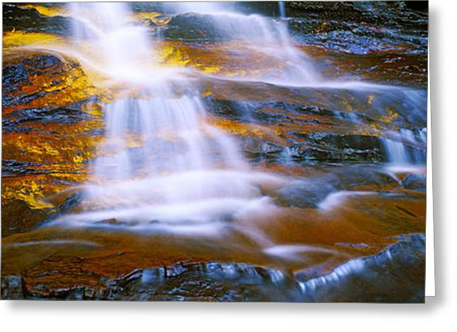 Waterfall, Wentworth Falls, Weeping Greeting Card by Panoramic Images