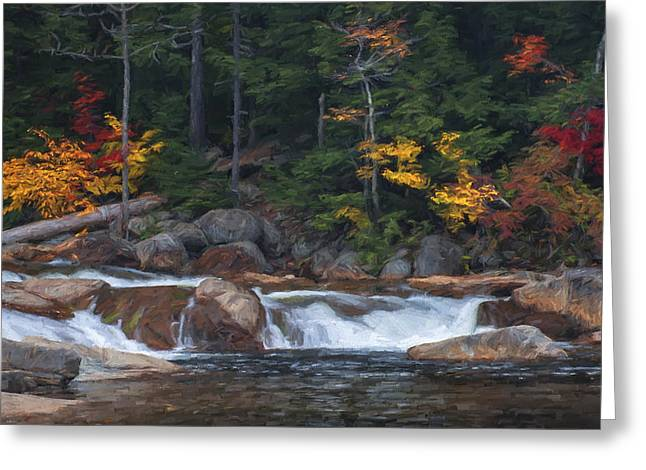Waterfall - White Mountains - New Hampshire Greeting Card by Jean-Pierre Ducondi