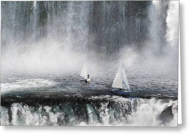 Waterfalls Edge Greeting Card