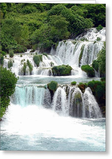 Waterfalls Of Plitvice Greeting Card