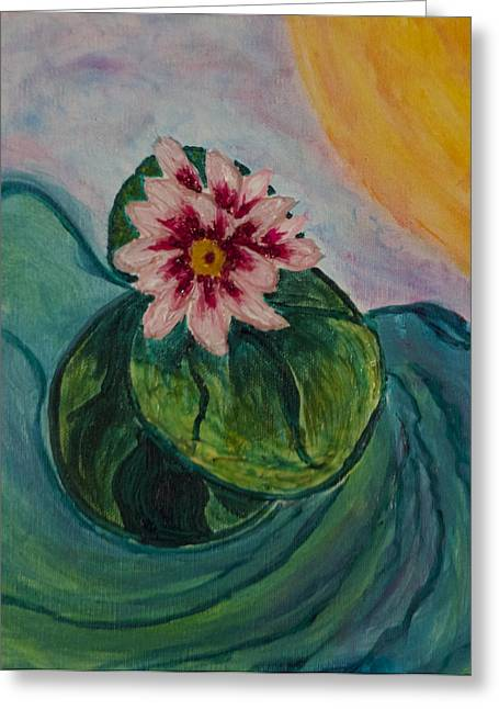 Waterflower Greeting Card by Phoenix The Moody Artist