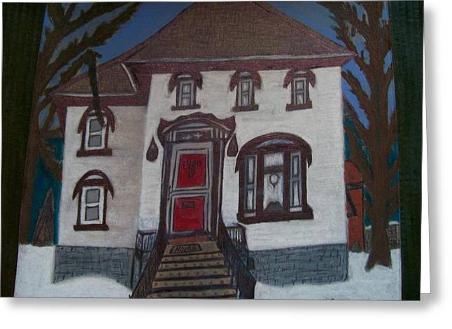 Historic 7th Street Home In Menominee Greeting Card