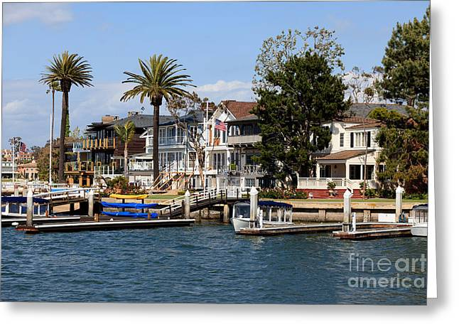 Waterfront Luxury Homes In Orange County California Greeting Card by Paul Velgos
