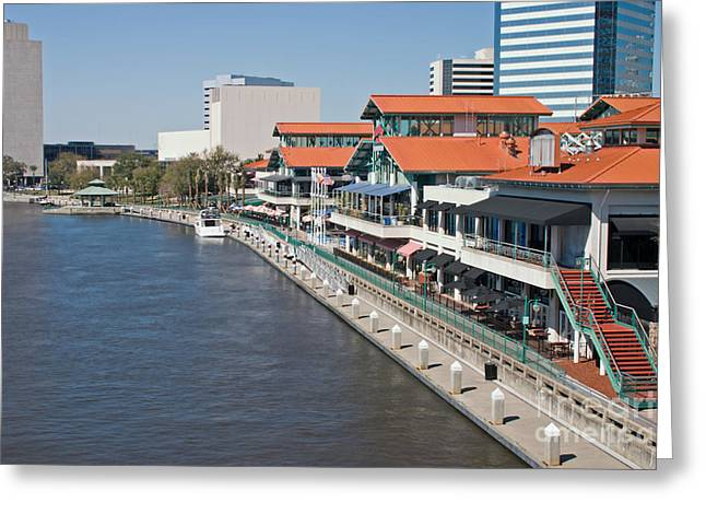 Waterfront Shopping And Dining Complex Greeting Card