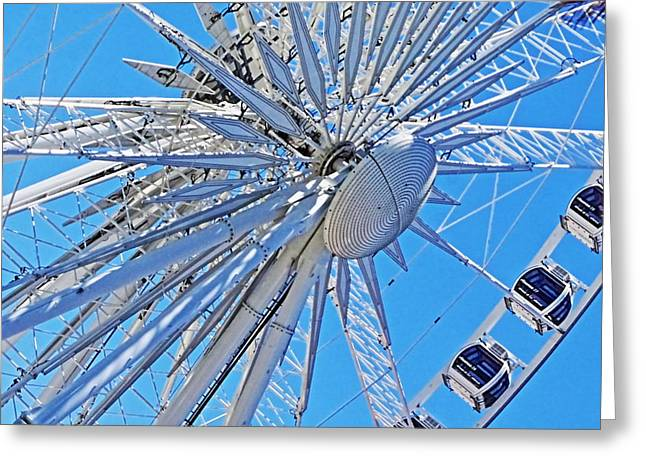 Waterfront Wheel Greeting Card by Aidan Moran