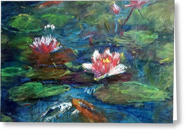 Waterlily In Water Greeting Card