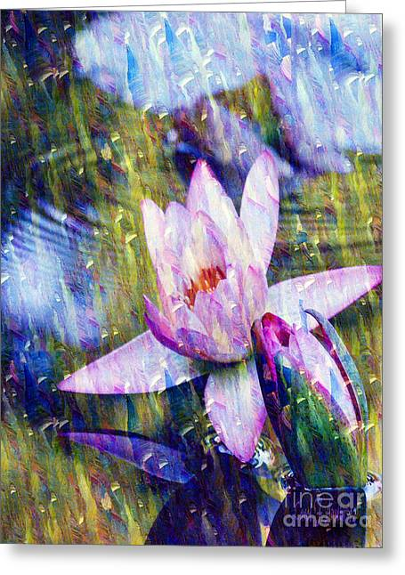 Purple Waterlily Paradise Greeting Card