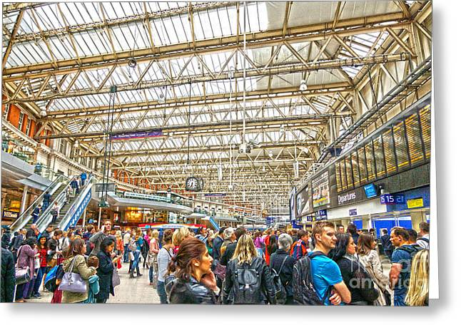 Waterloo Station Greeting Card