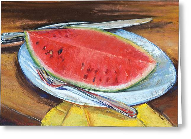 Watermelon Greeting Card by Beverly Amundson