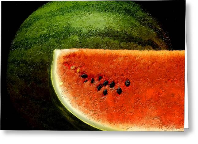 Watermelon Greeting Card by David Blank