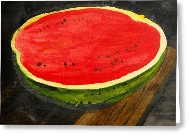 Watermelon Greeting Card by Larry Farris
