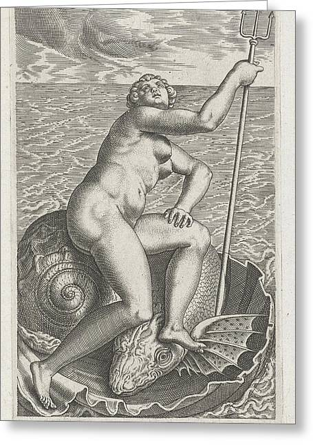 Waternimf Galatea, Philips Galle Greeting Card by Philips Galle