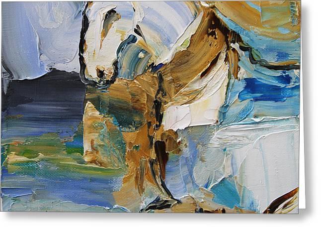 Waterplay Horse 9 2014 Greeting Card