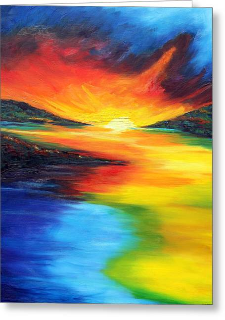 Greeting Card featuring the painting Waters Of Home by Meaghan Troup