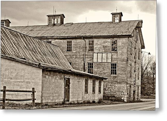 Waterside Woolen Mill Greeting Card by Steve Harrington