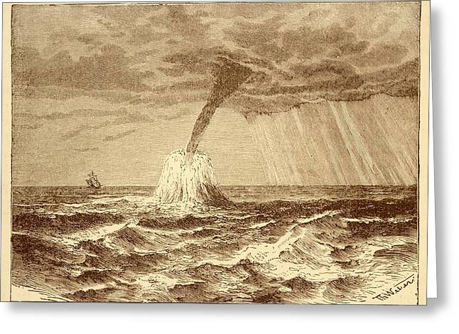 Waterspout At Sea. Greeting Card by David Parker