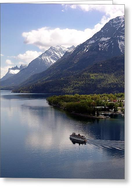 Waterton Cruise Greeting Card