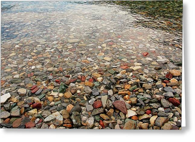 Greeting Card featuring the photograph Waterton Lakes Shore by Trever Miller