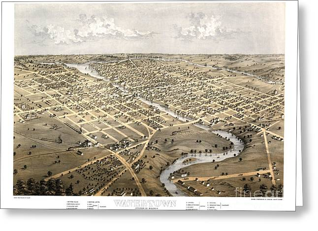 Watertown - Wisconsin - 1867 Greeting Card by Pablo Romero