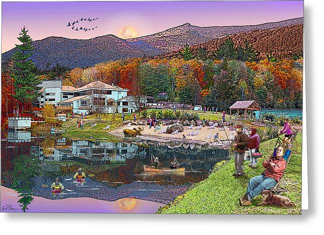 Waterville Estates In Autumn Greeting Card