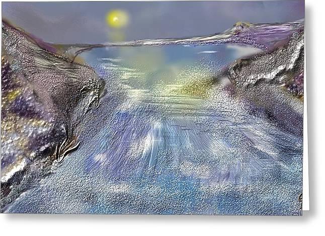 Waterway Rush Greeting Card by Gregory Steward