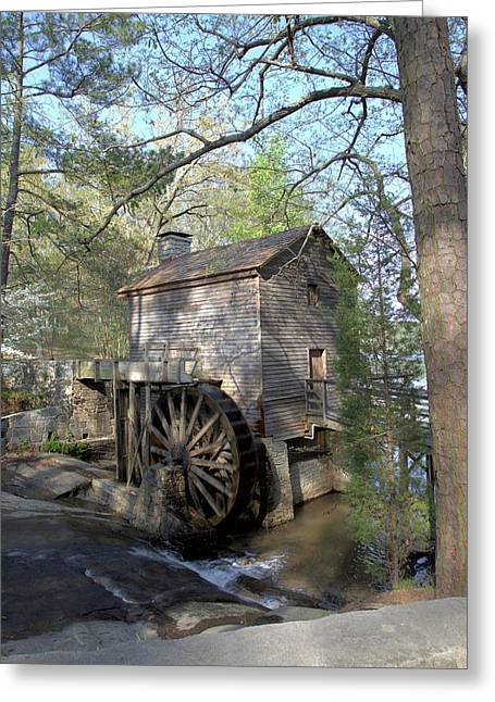 Greeting Card featuring the photograph Waterwheel At Stone Mountain by Gordon Elwell