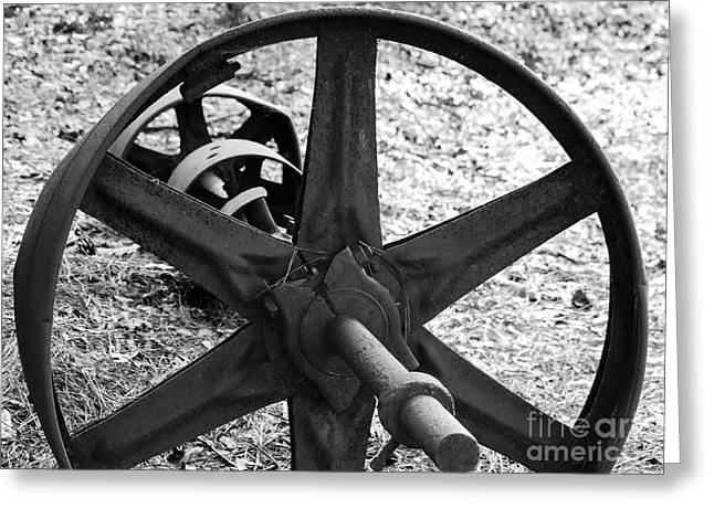 Waterwheel Axle Greeting Card
