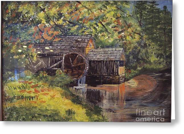 Waterwheel In Autumn Greeting Card