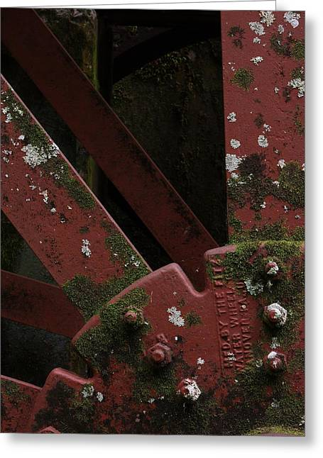Greeting Card featuring the photograph Waterwheel Up Close by Daniel Reed