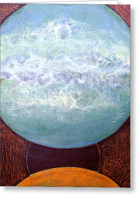 Waterworld Greeting Card by Carolyn Goodridge