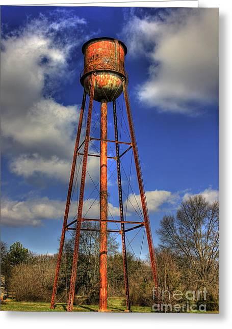 Rusty Water Historic Watkinsville Georgia Water Tower Greeting Card by Reid Callaway