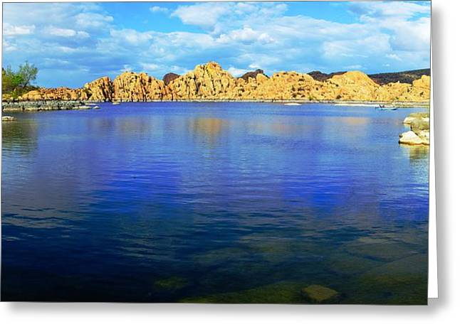 Watson Lake #2 Greeting Card by Richard Henne