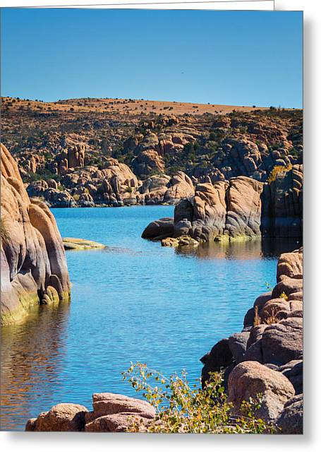 Watson Lake In The Fall Greeting Card by Diane Wood