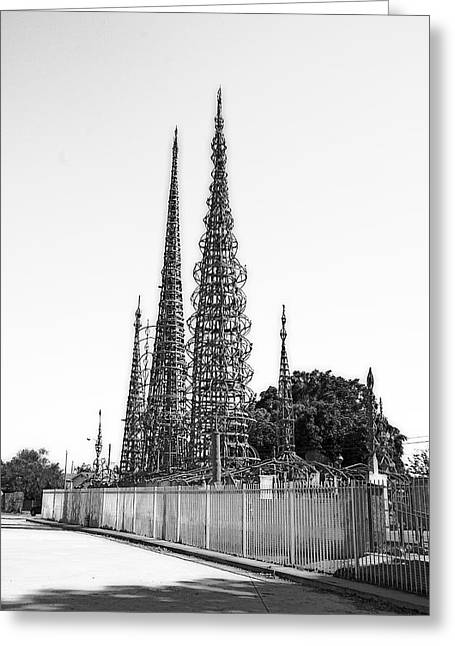 Watts Towers Greeting Card