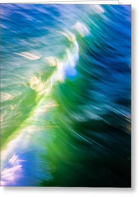 Wave Abstract Triptych 1 Greeting Card