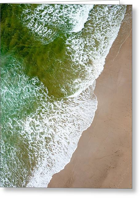 Wave Action On Tallow Beach Greeting Card by Rob Huntley