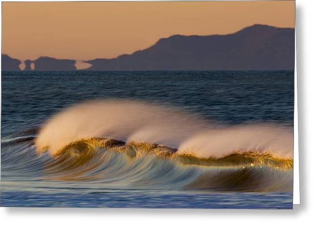 Greeting Card featuring the photograph Wave And Island 73a5281 by David Orias