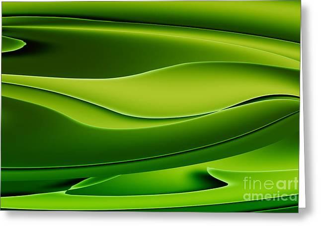 Wave Art V Greeting Card by Ludek Sagi Lukac